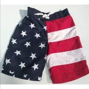 Gymboree USA Flag Swim Trunks Size 4T
